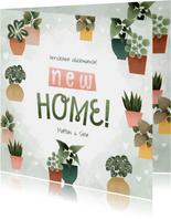 Karte Einzug Glückwunsch 'New Home'