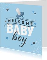 Karte Glückwunsch 'Baby Boy'