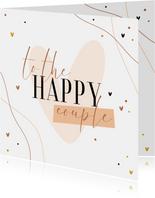 Karte Glückwunsch Hochzeit 'Happy Couple'