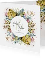 Karte Glückwunsch zur Hochzeit Blumenornament