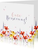 Karte Gute Besserung Blumenwiese