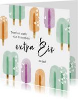 Karte Gute Besserung 'Extra Eis'