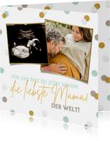 Karte Muttertag Fotocollage werdende Mama