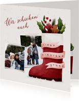 Karte Nikolausgrüße mit Fotos und Nikolausstiefel