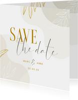 Karte Save the Date Hochzeit elegant & abstrakt