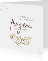Karte Trauzeugin / Trauzeugen fragen feine Zweige