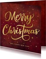 Karte zu Weihnachten 'Merry Christmas'