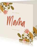 Karte zum Muttertag botanisch mit Foto innen