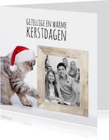 Kat, kerstmuts en fotolijst-isf
