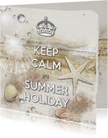 Keep Calm Summer Holiday beach - SG