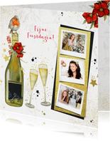 Kerst champagne glazen