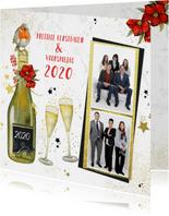 Kerst champagne roodborstje