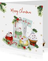 Kerst cupcakeornament