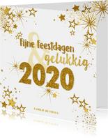 Kerst en nieuwjaars kaart moderne kaart goud vuurwerk