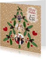 Kerst fotoboom papierprint