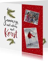 Kerst handlettering fotokaart - HR