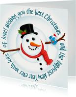 Kerst Happy Snowman