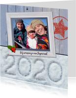 Kerst Hout met sneeuw 2020