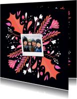 Kerst illustratiekaart met foto