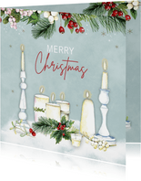 Kerst kaarsen kersttakjes
