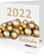 Kerst kerstballen goud logo zakelijk