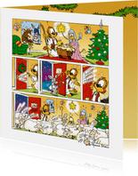 Kerst Loeki strip levende kerststal