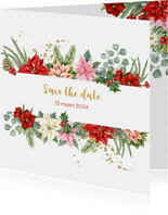 Kerst Save the date kerstster