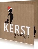 Kerst silhouet jongen knuffel Kraft - MW