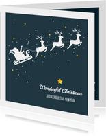 Kerst - Slee, rendieren en sterren