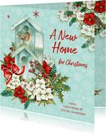 Kerst- verhuiskaart A new home christmas
