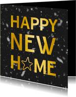 Kerst verhuiskaart adreswijziging - Happy New Home zwart