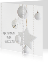 Kerstkaarten - Kerst witte ster