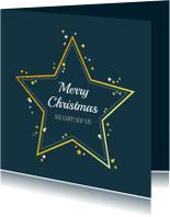 Kerst - Zakelijke kerstkaart met gouden ster