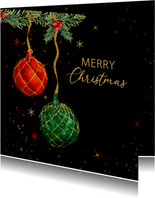 Kerstballen botanische dennetakjes