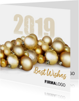 Kerstballen goud logo zakelijk 2019