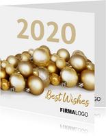 Kerstballen goud logo zakelijk 2020