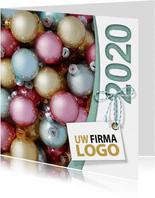 Kerstballen pastel label logo boog 2020