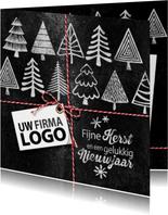 Kerstbomen logo krijtbord zakelijke kerstkaart