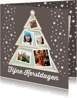 Kerstboom houten lijst-isf