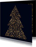 Kerstboom van gereedschap voor klusbedrijf
