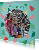 Kerstboompjes fotorand