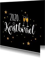 Kerstborrel zwart goudlook champagne
