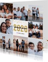 Kerstkaart 2020 Goud Glitter groot