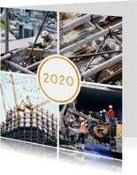 Kerstkaart '2020' met 4 foto's vierkant