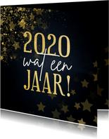 Kerstkaart 2020 wat een jaar met sterren