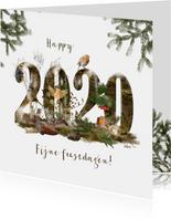 Kerstkaart 2020 winters bos