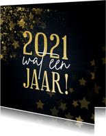 Kerstkaart 2021 wat een jaar met sterren