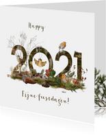 Kerstkaart 2021 winters bos