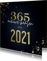 Kerstkaart 365 nieuwe kansen voor 2021 stijlvol