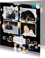 Kerstkaart 4 foto's met persoonlijke tekst 2020